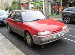 1991 Rover 214Si (occama) Tags: j143krl 1991 rover 214si old car cornwall uk red british cornish reg bangernomics