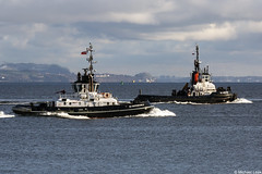 The Serco Marine Services tugs SD Dependable, IMO 9533804, and the SD Impetus, IMO 9050802; Loch Long, Firth of Clyde, Scotland (Michael Leek Photography) Tags: tugs workingboat workboat navaltugs ships vessels merchantship merchantnavy merchantvessel firthofclyde clyde lochlong westcoastofscotland westernscotland cowal cowalpeninsula argyllandbute argyll scotland scottishcoastline scottishlandscapes scotlandslandscapes scottishshipping blairmore strone thisisscotland michaelleek scotlandinwinter scotlandslochs michaelleekphotography