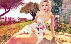 Afternoon Delight.. (Sistine Kristan (Sisely) - Toolbox Chicks) Tags: spring flowers milkshake blog chicchica navy copper mesh catwa photography sl secondlife ersch outdoor garden maitreya mandala lagyo fashion pink