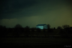 rural nocturne (Jen MacNeill) Tags: night evening barn light storm sky farm agriculture lancaster pa pennsylvania stormy drama dramatic