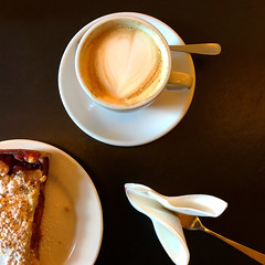 At the Golden Bar (Rosmarie Voegtli) Tags: hausderkunst hdk odc ourdailychallenge take biscuits coffee fork cake food dessert genuss munich square