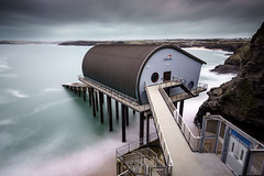 Trevose Lifeboat Station (s.pither) Tags: architecture cliff coast cornwall lifeboat longexposure sea seascape trevosehead