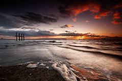 Sunset reflection. (daveknight1946) Tags: essex southend leighonsea twotreeisland sunset reflection water riverthames greatphotographers greaterphotographers smileonsaturday watermove