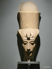Akhenaten (Amenhotep IV) with Double Crown, Luxor Museum (2).JPG (tobeytravels) Tags: thebes egypt amonispleased aten usefulforaten newkingdom sandstone