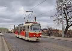 DPP 8285 Malostranská Praag (eddespan (Edwin)) Tags: dpp tramvanpraag praag czechrepublic czech cz tram streetcar strasenbahn strassenbahn tramway tramvaj tatra t3 ov openbaarvervoer