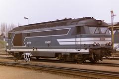 SNCF 67414 (bobbyblack51) Tags: sncf class bb67400 brissonneau and lotzmte bb diesel locomotive 67414 rouen sotteville depot 1997