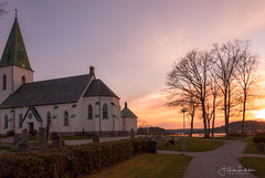 Ljungskile Church (Fredrik Lindedal) Tags: church ljungskile sunlight sunset ocean sky sweden sverige lindedal architecture