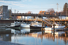 Fisherman's Wharf (Eric Gendron Photography) Tags: fishing pier boat lobster season prescottpark peirceisland portsmouth nh southend sunrise goldenhour water seacoast scenic