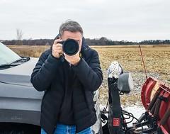 Hunting . . . (Dr. Farnsworth) Tags: hunting snowyowl owl large bird truck tundra muskegon mi michigan winter december2018