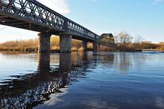 FB184246 E-M5ii 14mm iso200 f8 1_125s 0 (Mel Stephens) Tags: 20181118 201811 2018 q4 3x2 6x4 wide widescreen olympus mzuiko mft microfourthirds m43 714mm pro omd em5ii ii mirrorless gps structure bridge water river uk scotland garmouth moray spey