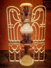 Delicate alabaster unguent vase with head of Hathor 18th dynasty New Kingdom Egypt (mharrsch) Tags: kingtut tutankhamun artifact treasure exhibit tomb egypt 18dynasty newkingdom discoveryofkingtut omsi oregonmuseumofscienceandindustry portland oregon mharrsch