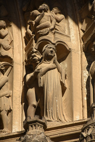 Statue of Nun Harassed by Demon