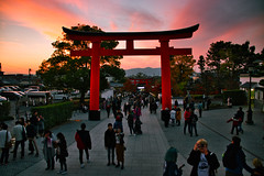 Sunset in Fushimi Inari