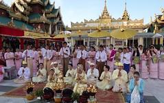 Ordination ceremony for novice Buddhist monks, Shwedagon Pagoda, Yangon (17) (Prof. Mortel) Tags: myanmar burma yangon rangoon buddhist pagoda shwedagon monks