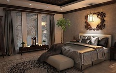 This bedroom makes me sleepy, what a beautiful design. lovely pendant light and luxurious bed covers, All items match perfectly in colors and textures. Lovely  #bedcover #homeinspiration #decoration #homeinterior #interiors #homedecor #bedding #bathroom # (CoolHomeStyling) Tags: instagram ifttt