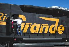 Set Out at Provo Yard (jamesbelmont) Tags: locomotive railroad railway riogrande drgw tunnelmotor sd40t2 emd provo utah 5406
