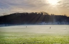 Frosty Football Training (Michelle O'Connell Photography) Tags: glasgow frost wintermorning bearsden colquhounpark thefroggy footballpark footballpitches winter sunshine glasgowphotographer landscapephotography scenery winterscene frostymorning michelleoconnellphotography