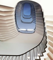 deep blue (Fotoristin - blick.kontakt) Tags: cologne stairs staircase spiral abstract lines curves architecture