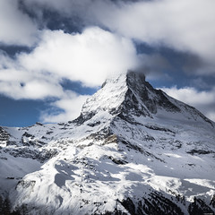 Cloudy peak (Rico the noob) Tags: dof z6 2470mm comerge nature outlook mountains outdoor clouds trees zermatt tree schweiz published snow sky landscape 2018 switzerland 2470mmf4 mountain