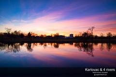 Dusk by the river Korana (malioli) Tags: river korana karlovac dusk twilight sunset sky reflection canon