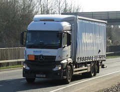 Nalco Water AY68 XWH at Welshpool (Joshhowells27) Tags: lorry truck mercedes mercedesbenz actros mercedesactros mercedesbenzactros curtainsider nalcowater ay68xwh northwich