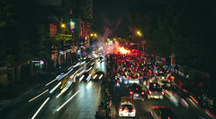 Fire in the Streets After the Football Win (toastal) Tags: hanoi vietnam soccer football win celebration fire street lightstreaks night happyplanet asiafavorites