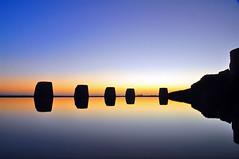 Coogee Beach morning colour (Atilla2008) Tags: minimalist dawn pool coogee reflections coogeerockpool australia nsw sameupsidedown d90 nikon sentinels
