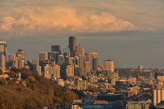 Magnolia Sunset Views 5 (C.M. Keiner) Tags: seattle washington usa city cityscape skyline mountains pacific northwest puget sound sunset magnolia hills clouds spring cherry blossoms