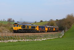 GBRf convoy Kerswell Bridge (Robert Sherwood) Tags: 66714 drags 73107 50049 50007 past kerswell bridge working 0z50 0810 eastleigh works gbrf penzance t rsmd friday 12th april 2019