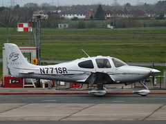 N771SR Cirrus SR22 Turbo (Private Owner) (Aircaft @ Gloucestershire Airport By James) Tags: gloucestershire airport n771sr cirrus sr22 turbo private owner egbj james lloyds