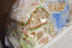 Gingerbread House Decorated by Accounting (NottawasagaResort) Tags: nottawasagaresort nottawasaga nottawasagainn nottawasagainnresort inn resort hotel raffle humane society gingerbread gingerbreadhouse candy house chocolate frosting christmas charity alliston allistonontario donation staff event dogs cats pets sugarplumfair sugar plum fair spf barbie cookie monster local animals