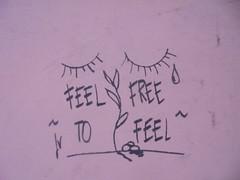 feel free to feel (en-ri) Tags: occhi eyes nero pianto cry crying lacrime tears bologna wall muro graffiti writing piantina