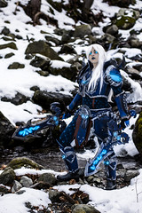 Sonya_5 (saromon1989) Tags: cosplay cosplayer deathknight death knight winter snow armor armour anime comiccon sonya wow diablo