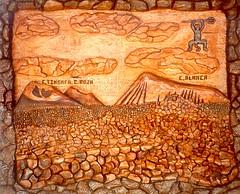Montañas del Fuego (micky the pixel) Tags: nationalpark timanfaya feuerberge montañasdelfuego kunst art schnitzerei tafel lanzarote kanarischeinseln spanien spain manchablanca
