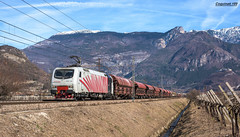 eu43-004+colorato (coquinati1) Tags: rtc ferroviadelbrennero brennerbahn brennero trento montagna cielo colorato eu43 railtractioncompany lokomotion lokomotiontrenomontagnamontaintrentovolanorailtractioncompany