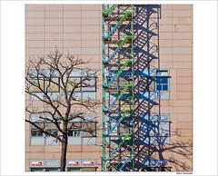 Blut spenden (dolorix) Tags: dolorix köln cologne architektur architecture universität university gerüst scaffold schatten shadow blutspenden donateblood