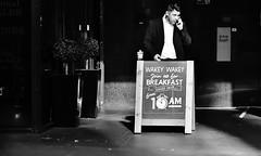 Your Alarm Call Sir ! (jaykay72.) Tags: london uk street candid streetphotography fenchurchplace stphotographia blackandwhite bw