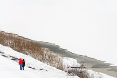 Spring promenade (man_from_siberia) Tags: people walking promenade spring march siberia russia весна март люди прогулка snow river снег река canon eos 5d dslr canoneos5d canon5d canon5dclassic canon5dmk1 tamronaf70300mmf456dild fullframe