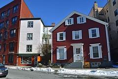 The Orange Door (AntyDiluvian) Tags: boston massachusetts cambridge harvardsquare cafe restaurant cafepamplona door orangedoor architecture