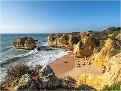 Untitled (Luc V. de Zeeuw) Tags: beach coast coastline ocean rock water waves albufeiraeolhosdeágua algarve portugal