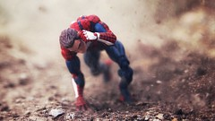 """""""No one can win every battle. But no man should fall without a struggle."""" (jananlee) Tags: snapseed canon80d canon practicaleffects portrait actionfigure toyphotography toy gamerverse ps4 spiderman"""