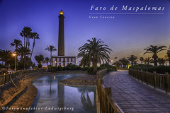 Faro de Maspalomas (Fotomanufaktur.lb) Tags: leuchtturm faro lighthouse maspalomas grancanaria spain canaries water night nacht