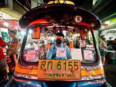 Bangkok Chinatown-3231472 (Neil.Simmons) Tags: bangkok chinatown thailand southeast asia candid street streetphotography laowa 75mm f2 ultra wide angle ultrawideangle tuktuk taxi closeup night neon driver