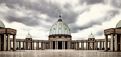 Yamoussoukro (BHalf - Thanks for stopping by :-)) Tags: africa ivory coast cote divoire yamoussoukro basilique nikon hdr sky clouds picture photo photoshop sigma lens d7000