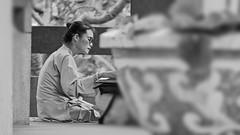 Prayer | Saigon Vietnam (Paul Tocatlian | Happy Planet) Tags: pray praying meditation buddhist buddhisttemple temple saigon hochiminhcity vietnam candidphotography candid blackwhite blackwhitephotography worship happyplanet asiafavorites