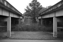 Two Bridges, Cleveland (DanDunwoody) Tags: bridge cleveland tennessee brutalism black white blackandwhite