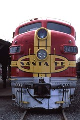 Santa Fe locomotive 3470 at Railway museum Sacramento 1993 (D70) Tags: santa fe locomotive railway museum sacramento 1993 oldsacramento california