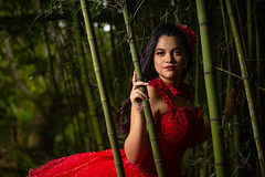 lizethbambu (atelierphotographie) Tags: xv misxv veracruz mexico love travel life time lifestyle bambu red ladyinred green