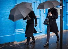 Brick Lane London 2019 (XBeauPhoto) Tags: bricklane london blue citylife colourstreet eastend streetcandid streetphoto streetphotography umbrella umbrellas