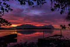 Amanhecer na Lagoa de Jacarepaguá - Rio de Janeiro (mariohowat) Tags: lagoadecamorim lagoadejacarepaguá amanhecer sunrise nascerdosol alvorada canon natureza brasil brazil riodejaneiro